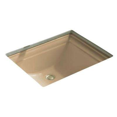 Memoirs Vitreous China Undermount Bathroom Sink in Mexican Sand with Overflow Drain