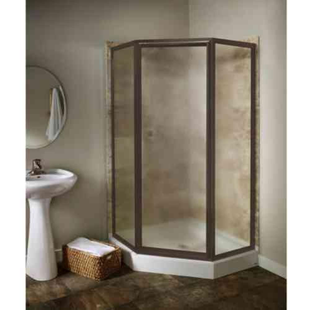 American Standard Prestige 24.12 in. x 68.5 in. Framed Neo-Angle Shower Door in Oil-Rubbed Bronze with Clear Glass