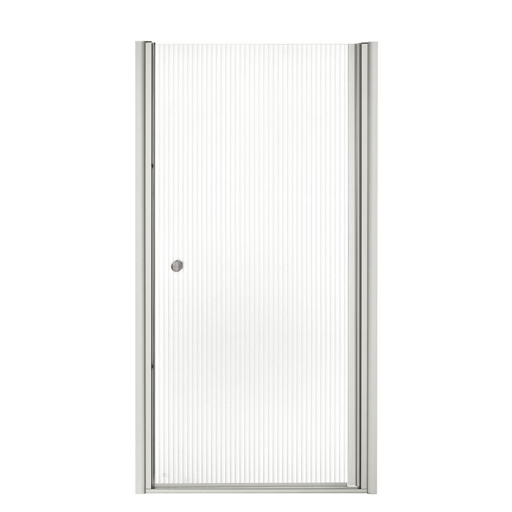 Fluence 35-1/4 in. x 65-1/2 in. Semi-Frameless Pivot Shower Door in