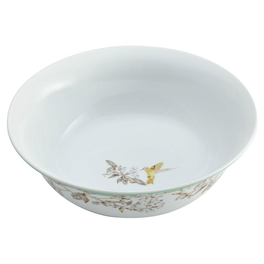 BonJour Dinnerware Fruitful Nectar Porcelain 10 in. Round Serving Bowl 55591