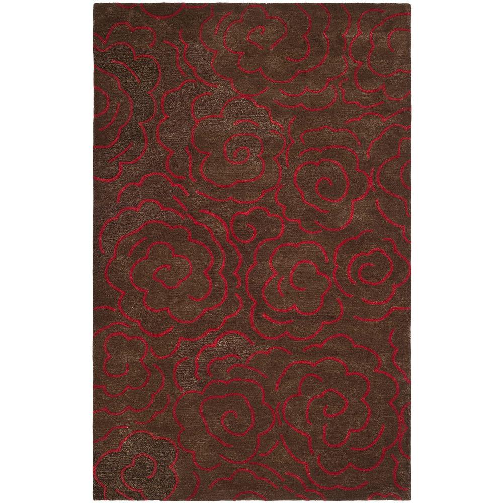 Soho Chocolate Red 5 Ft X 8 Area Rug