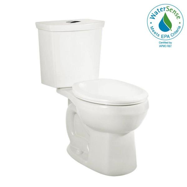 American Standard H2option 2 Piece 0 92 1 28 Gpf Dual Flush Elongated Toilet With Liner In White Seat Not Included 2887518 020 The Home Depot