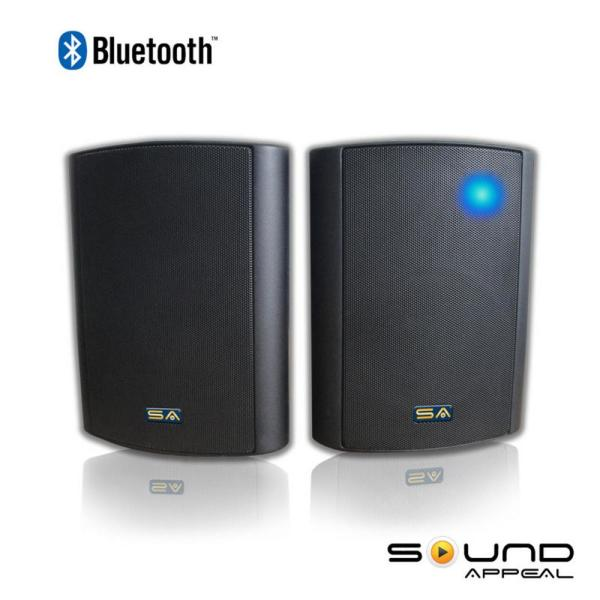 Bluetooth BT Blast 5.25 Indoor/Outdoor Weatherproof Patio Speakers (Black - Pair)