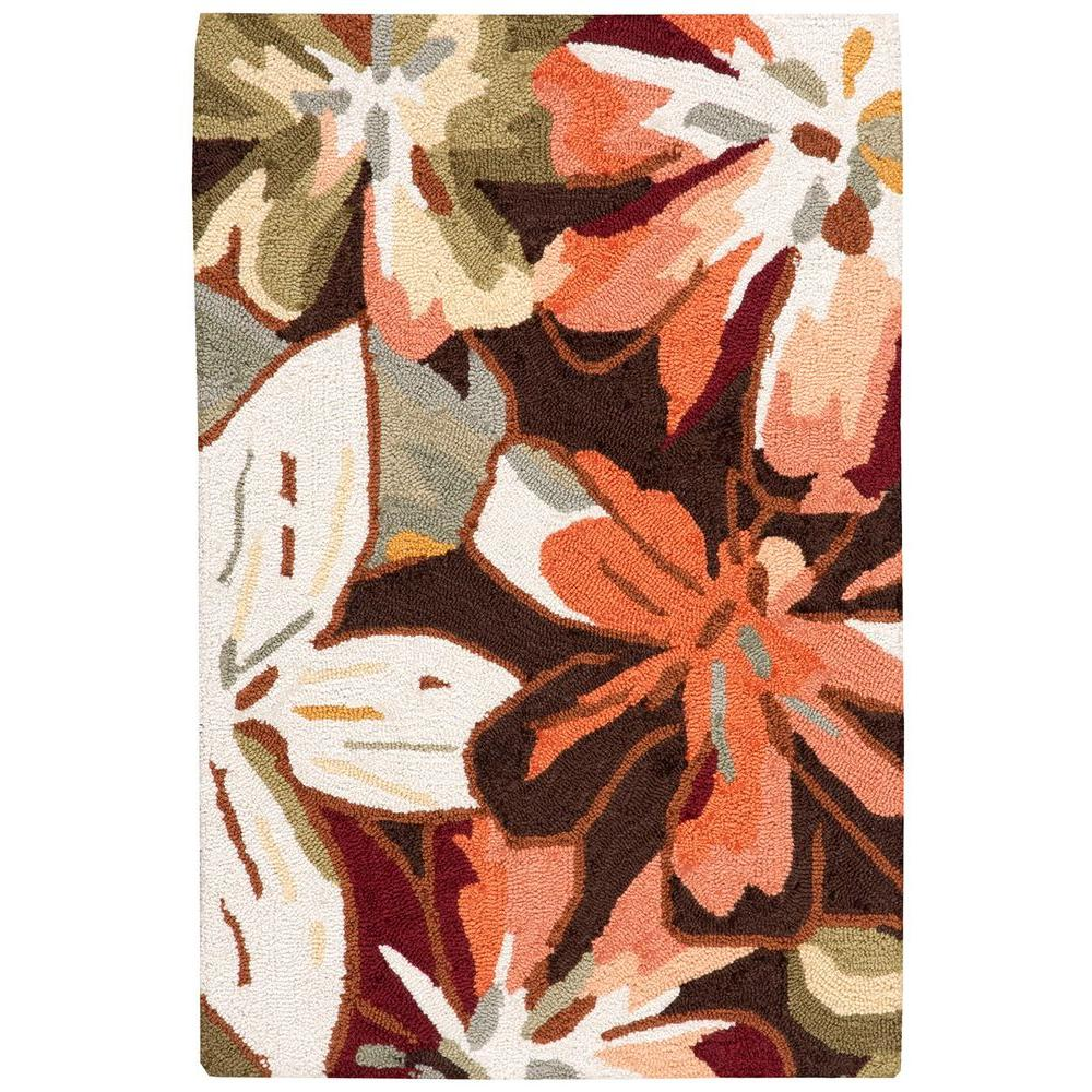 Nourison Fantasy Multicolor 1 ft. 9 in. x 2 ft. 9 in. Accent Rug