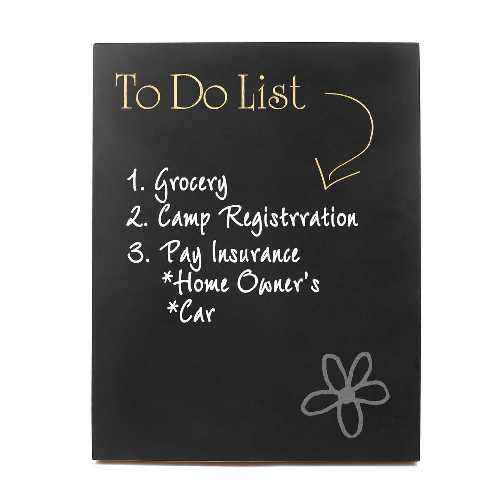 14 In X 11 In To Do List Chalkboard Wooden Wall Art