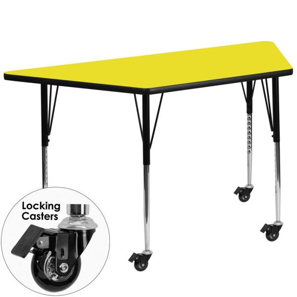 Flash Furniture Yellow Kids Table XUA2448TRPYLHAC