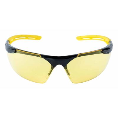 2546178b59a Safety Eyewear Glasses Comfort Black Frame with Yellow Accent Amber Anti