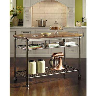 Carts islands utility tables kitchen the home depot for Home depot kitchen table