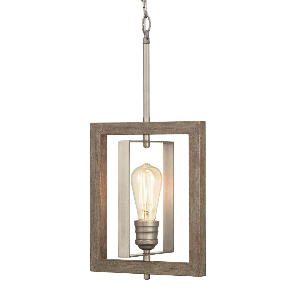 Home Decorators Collection Palermo Grove Light Antique Nickel Mini Pendant Painted