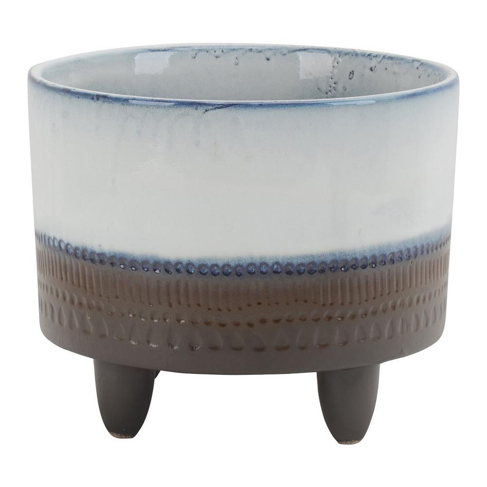 7.75 in. Ceramic Planter in Multi-Colored