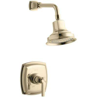 Margaux 1-Spray 6.5 in. 2.5 GPM Fixed Showerhead with Lever Handle in French Gold