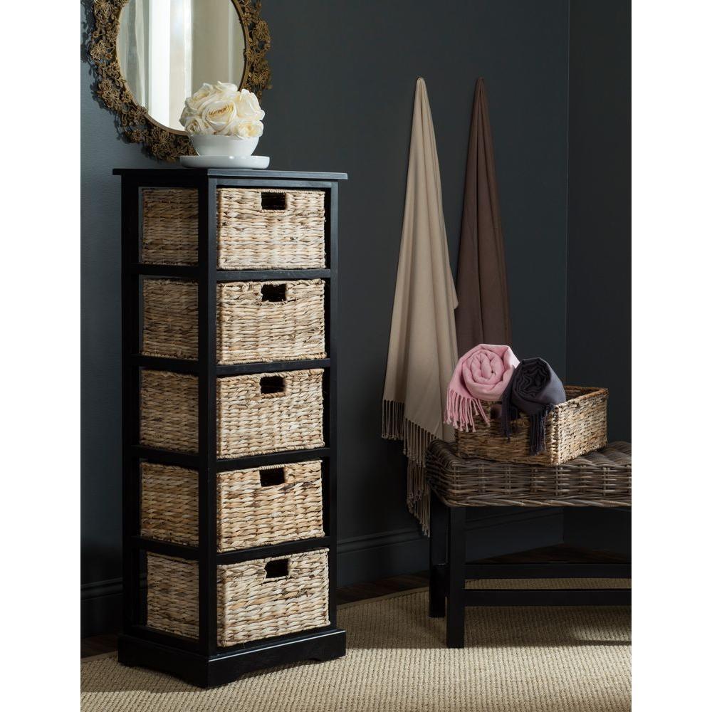 Vedette  Distressed Black Storage Cabinet