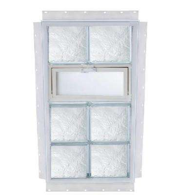 NailUp Vented Ice Pattern Glass Block Window