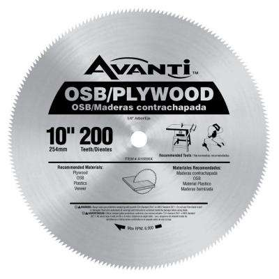 10 in. x 200-Teeth OSB/Plywood Saw Blade