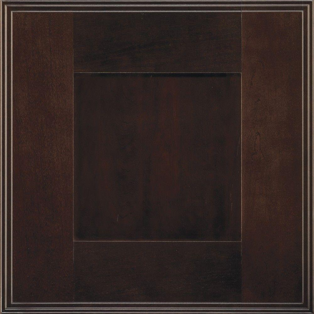 Decora 14.5x14.5 in. Cabinet Door Sample in Artisan Teaberry