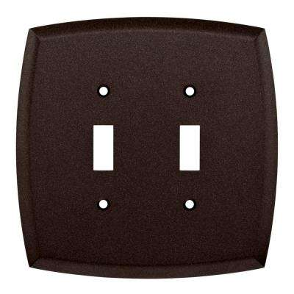 Mandara Decorative Double Switch Plate, Cocoa Bronze