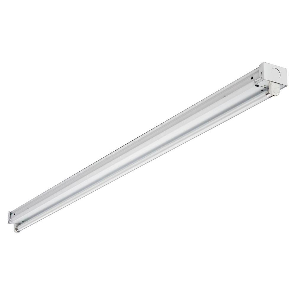 Lithonia Lighting 1-Light 4 ft. High Output White T5 Fluorescent Multi-Volt Strip Light