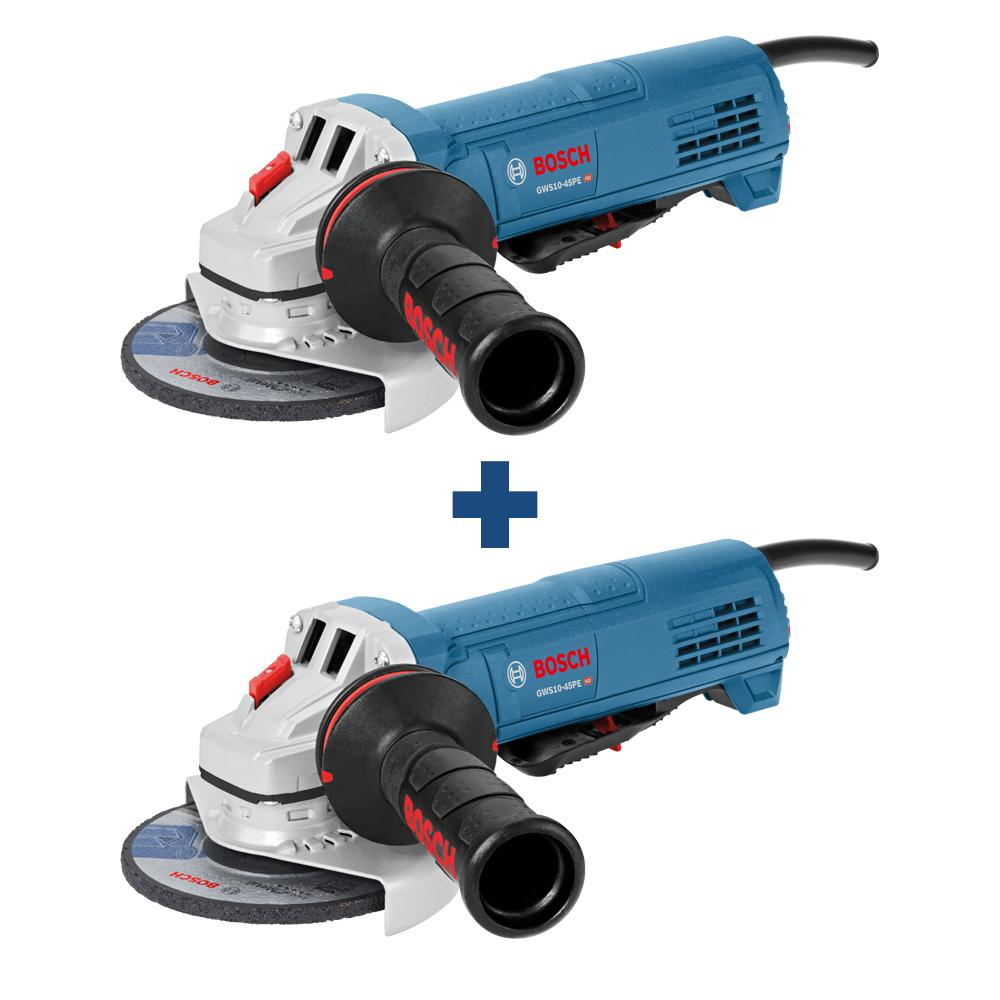 Bosch 10 Amp Corded 4-1/2 in. Angle Grinder with Paddle Switch (2-Pack)