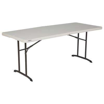 72 in. Almond Plastic Folding Banquet Table