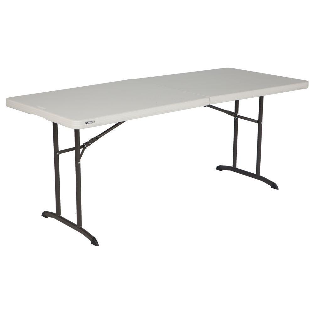 lifetime almond folding table 80382 the home depot