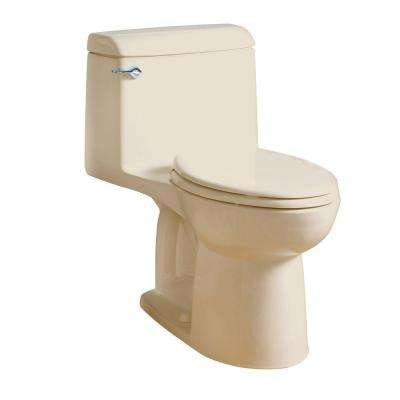 Champion 4 1-Piece 1.6 GPF Single Flush Elongated Toilet in Bone
