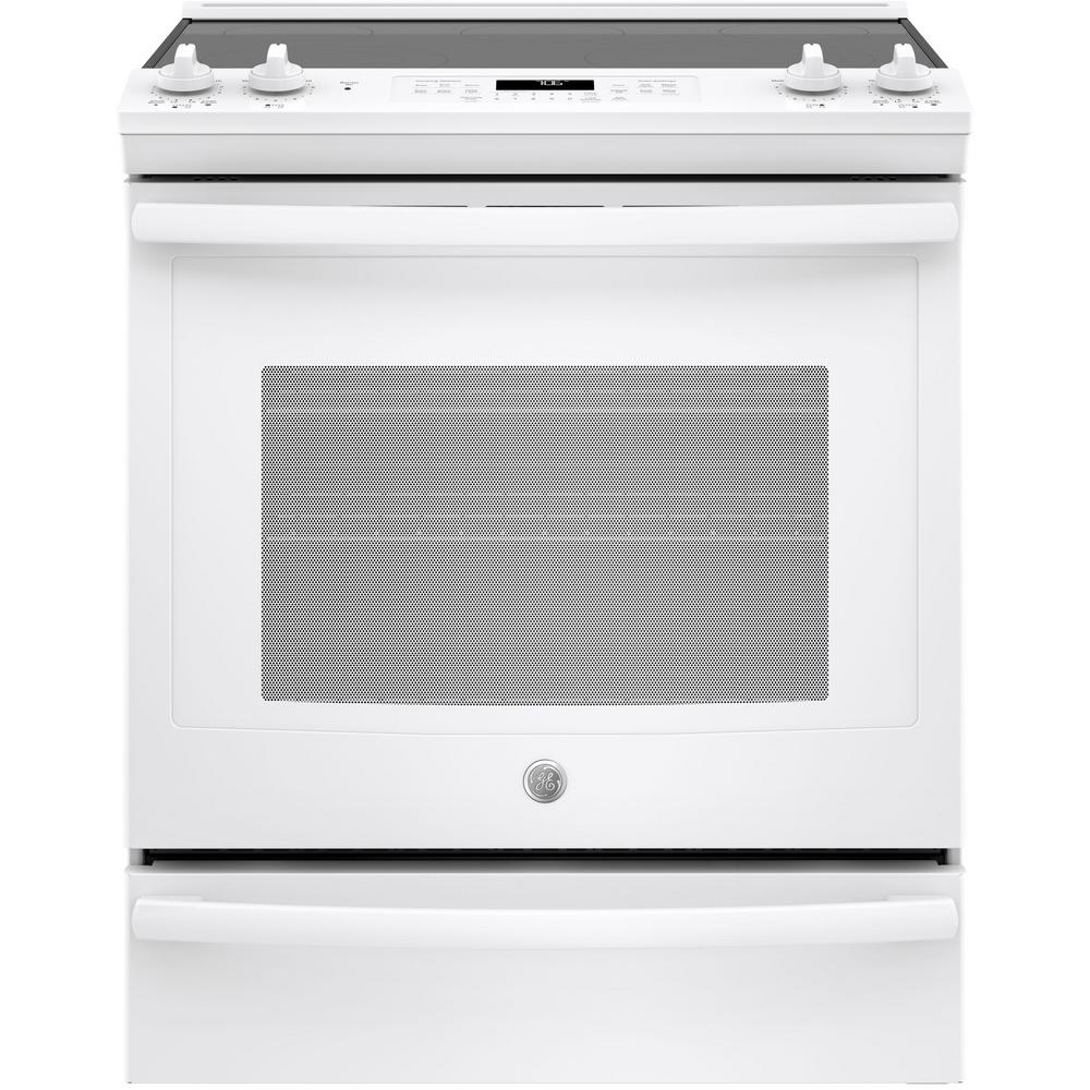 GE 5.3 cu. ft. Slide-In Electric Range with Self-Cleaning ...