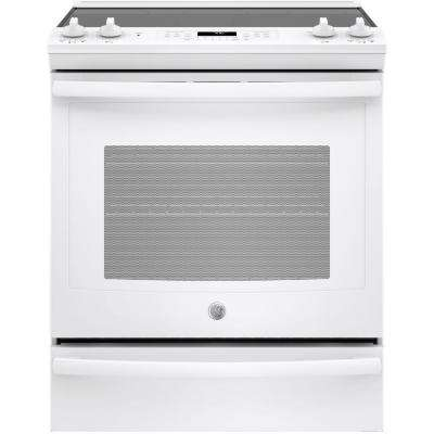 5.3 cu. ft. Slide-In Electric Range with Self-Cleaning Convection Oven in White