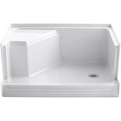 Memoirs 48 in. x 36 in. Single Threshold Right-Hand Drain Shower Base with Integral Seat in White