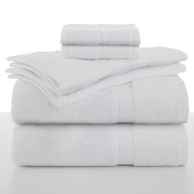 Essentials 6-Piece Cotton Towel Set in Optical White