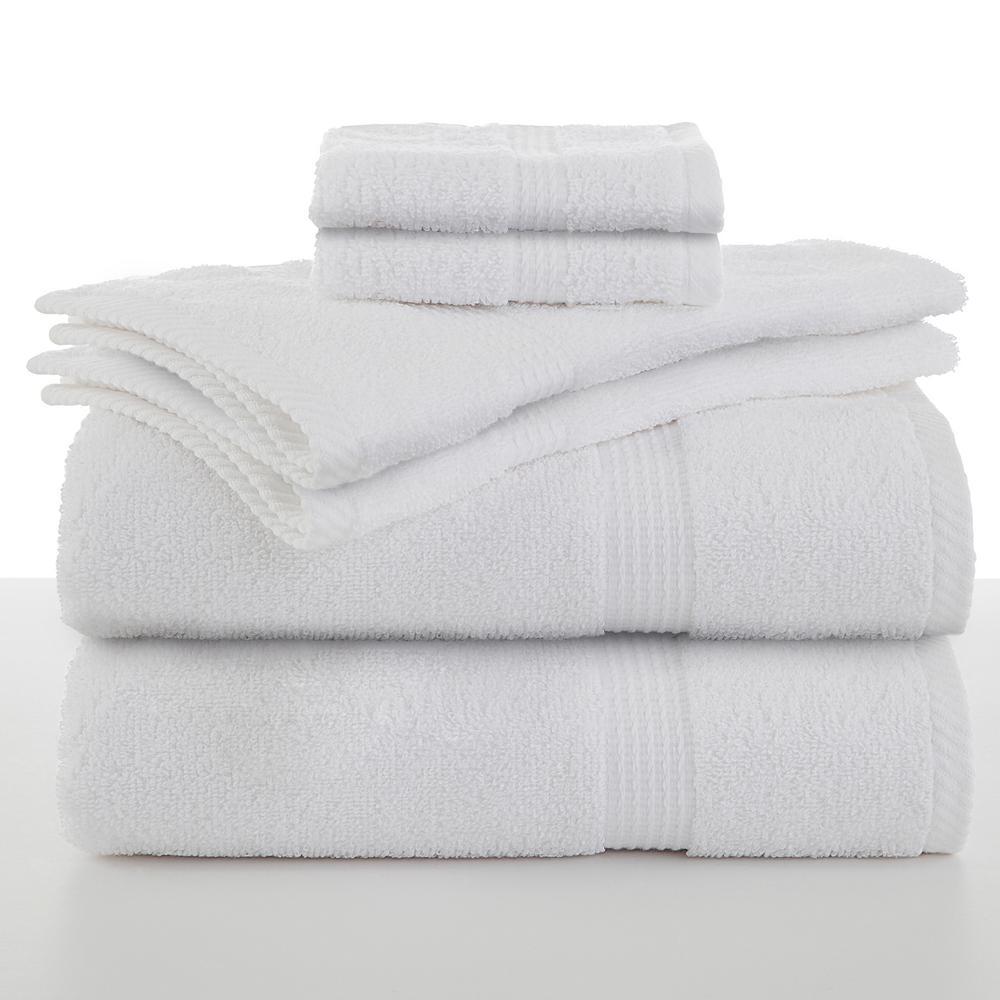 Essentials 6-Piece Cotton Towel Set in Optical White