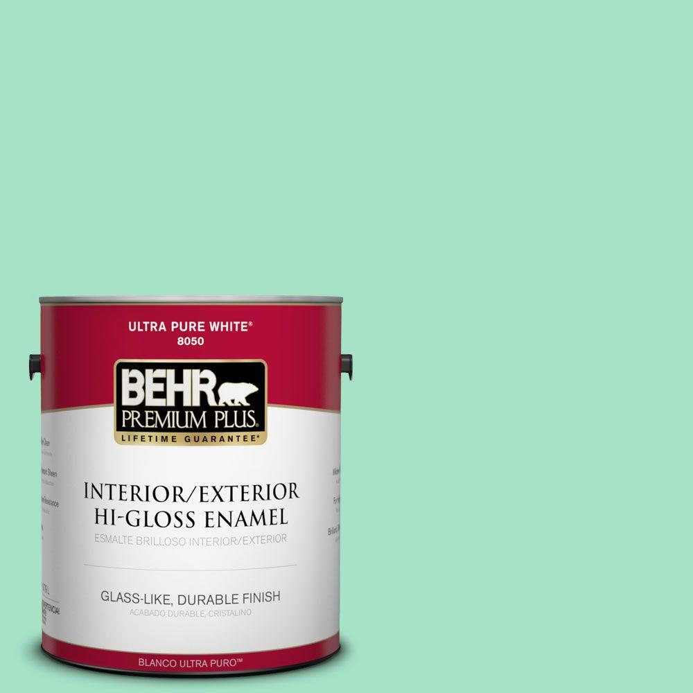 1-gal. #470A-3 Reef Green Hi-Gloss Enamel Interior/Exterior Paint