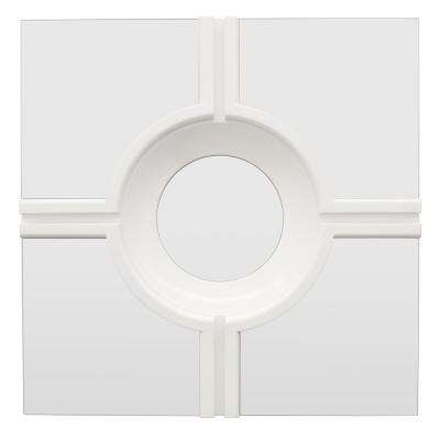 24 in. Wall Mirror in White