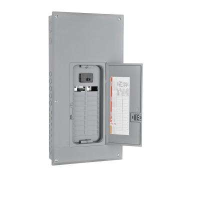 Homeline 100 Amp 20-Space 40-Circuit Indoor Main Breaker Plug-On Neutral Load Center with Cover