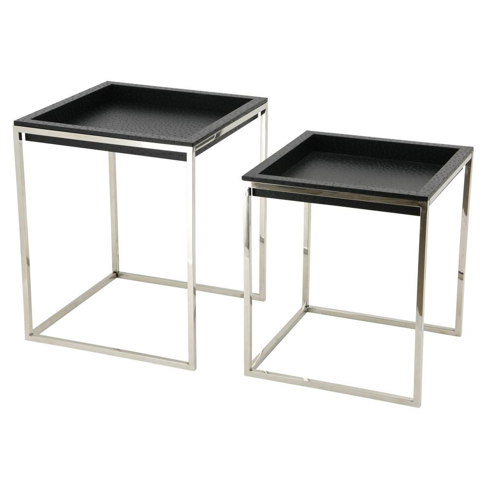 Leather Nesting Tables Images Table Decoration Ideas