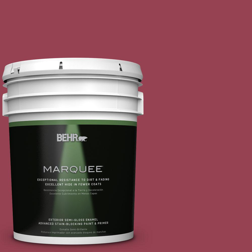 BEHR MARQUEE Home Decorators Collection 5-gal. #HDC-CL-04 French Rose Semi-Gloss Enamel Exterior Paint