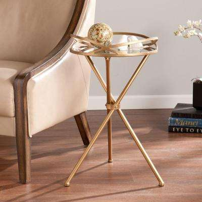 Huron Antique Bronze End Table
