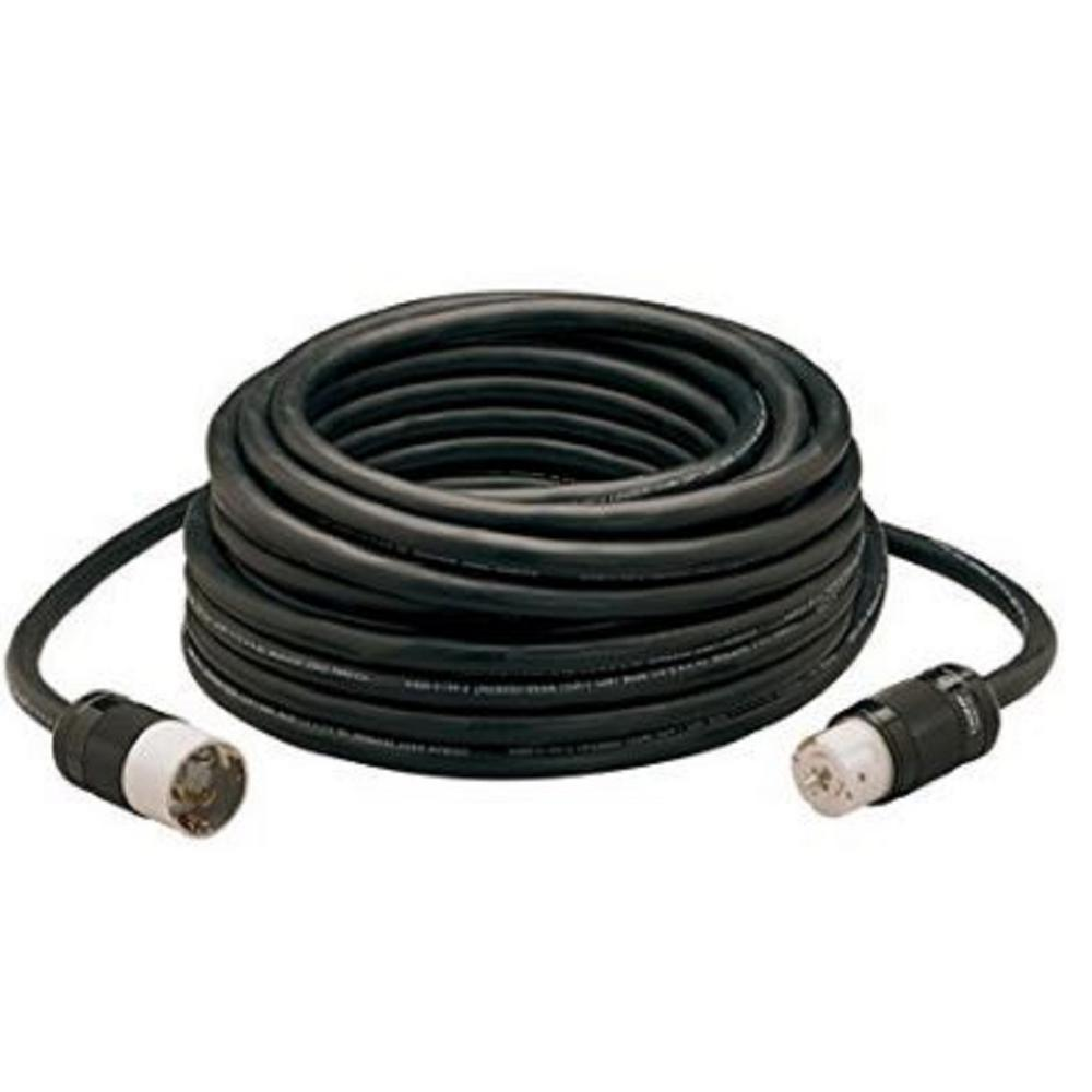 100 ft. 6/3 and 8/1 SEOW Black 50 Amp Twist-Lock Generator