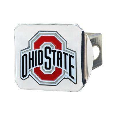 NCAA Ohio State University Color Emblem on Chrome Hitch Cover