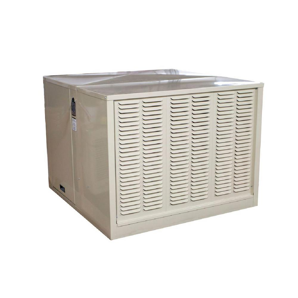 Hessaire 4 800 Cfm 115 V Down Draft Rigid Roof Side Evap Cooler Swamp Cooler For 18 In Ducts 1 650 Sq Ft Motor