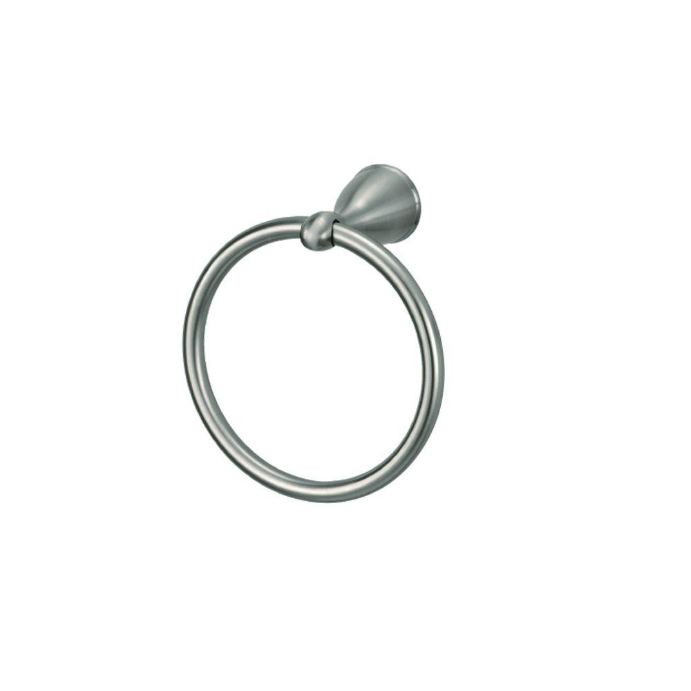 Builders Towel Ring in Brushed Nickel