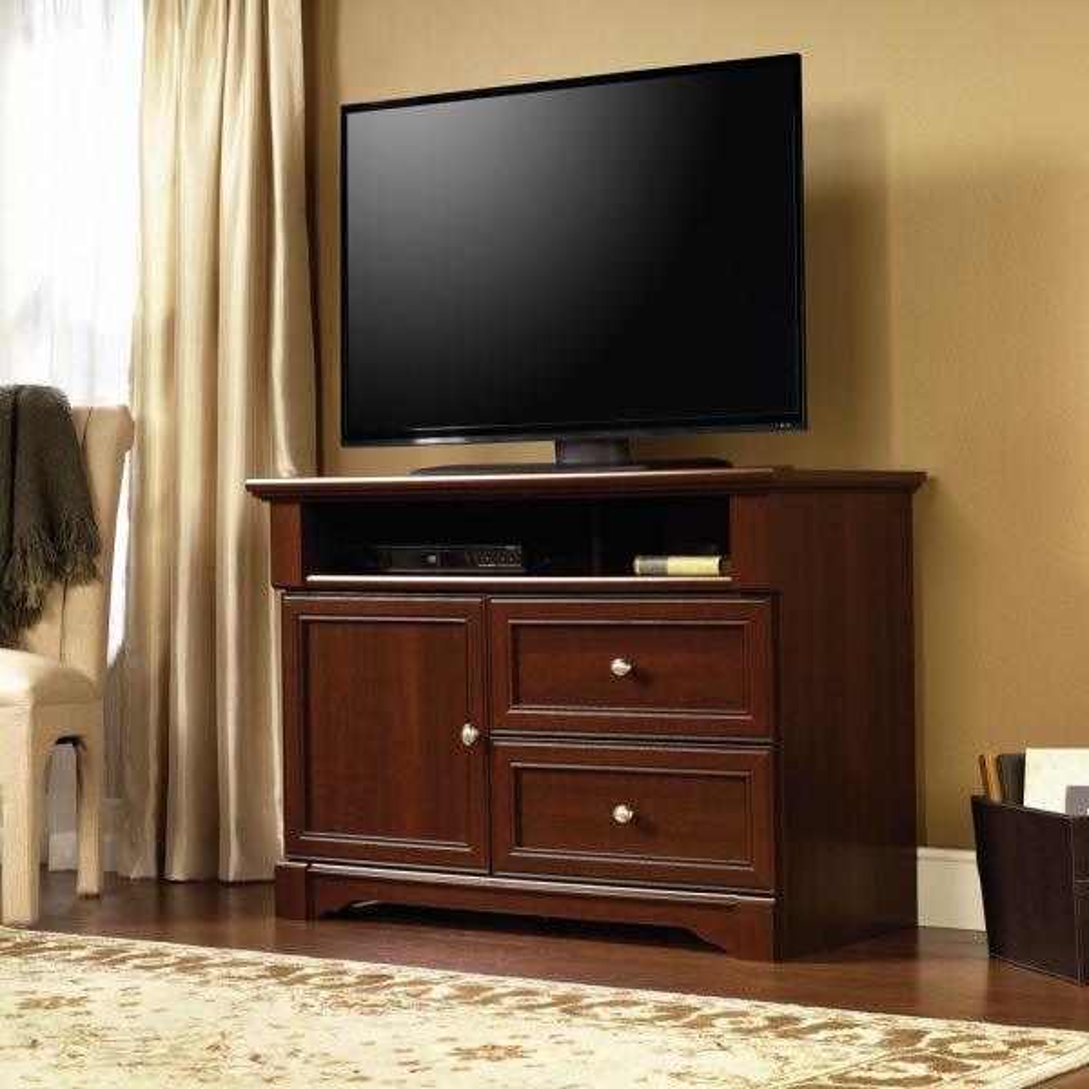 SAUDER Palladia Select Cherry Storage Entertainment Center 411626