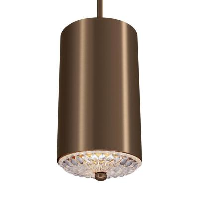 Feiss Botanic 1-Light Dark Aged Brass Mini-Pendant