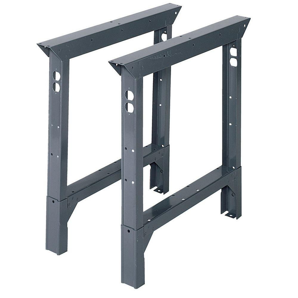Awe Inspiring Edsal 33 In H X 2 In W X 30 In D Steel Adjustable Height Workbench Legs Squirreltailoven Fun Painted Chair Ideas Images Squirreltailovenorg