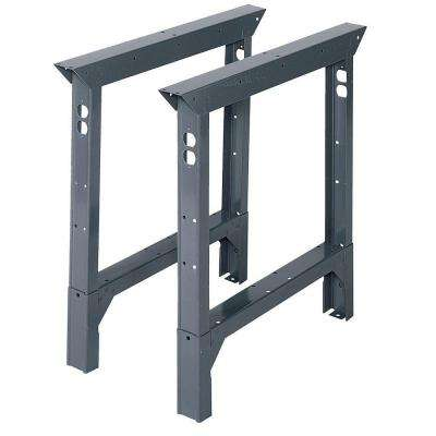 33 in. H x 2 in. W x 30 in. D Steel Adjustable Height Workbench Legs