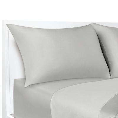 COOLMAX Silver 300 Thread Count 20 in. x 30 in. Pillowcases (2-Pack)