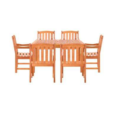 Chadwick 7-Piece Wood Rectangle Outdoor Dining Set