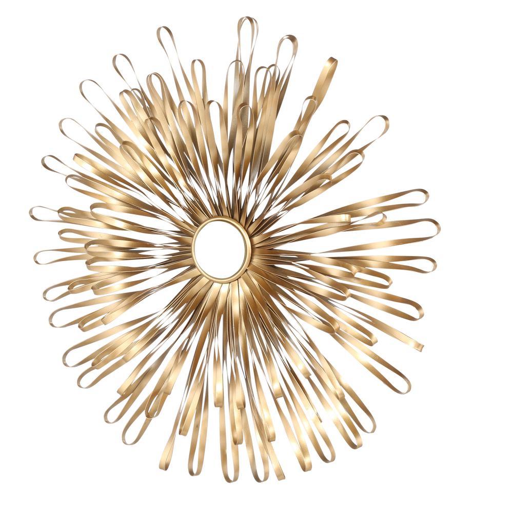 internet home decorators collection golden sunburst gold metal wall sculpture
