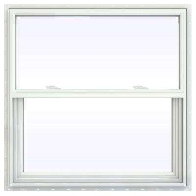 35.5 in. x 35.5 in. V-2500 Series White Vinyl Single Hung Window with Fiberglass Mesh Screen