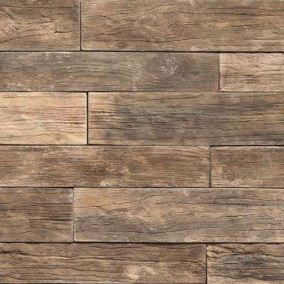 35.50 in. x 8 in. Koni Woodstone Cafe Manufactured Stone Panel 8.40 sq. ft. Flats