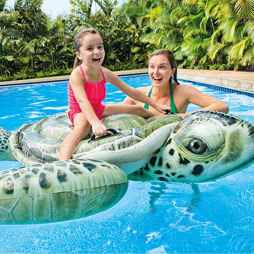 Realistic Sea Turtle Ride-On Pool Inflatable